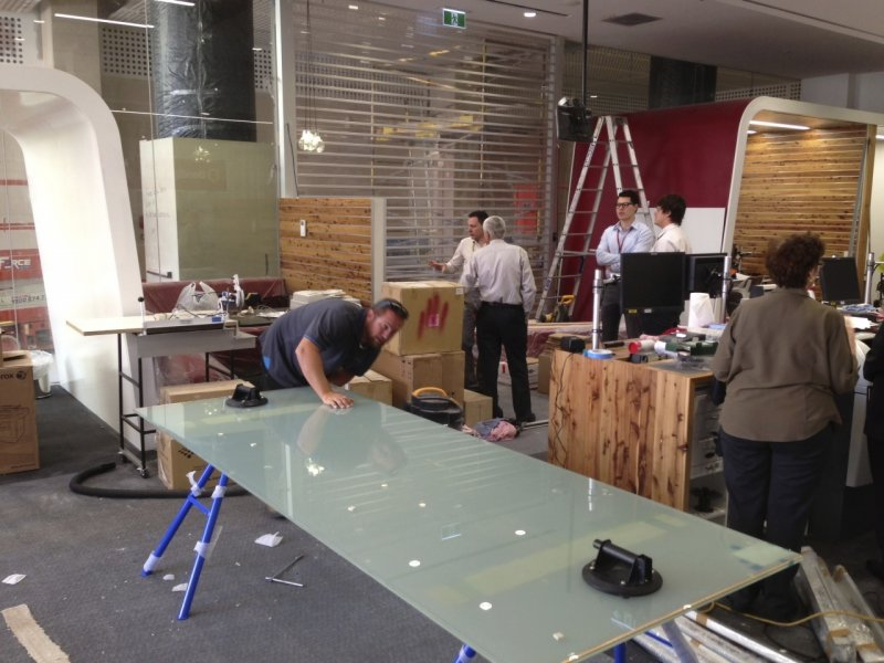 Bendigo Bank Project - Switchable Privacy Glass Inspection
