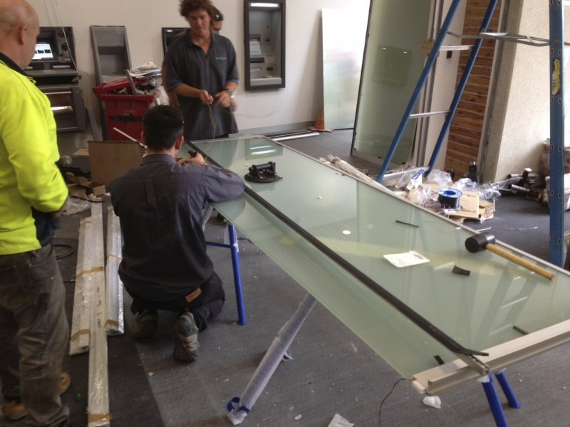 Bendigo Bank ProjectBendigo Bank Project - Switchable Privacy Glass Wiring - Switchable Privacy Glass Inspection