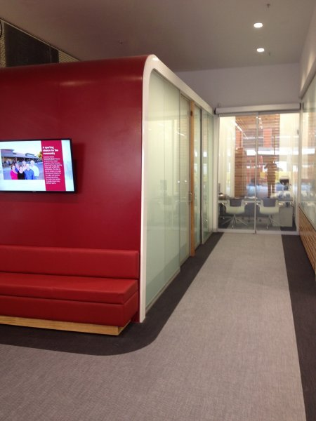 Bendigo Bank Project - Switchable Privacy Glass Office Completion 1