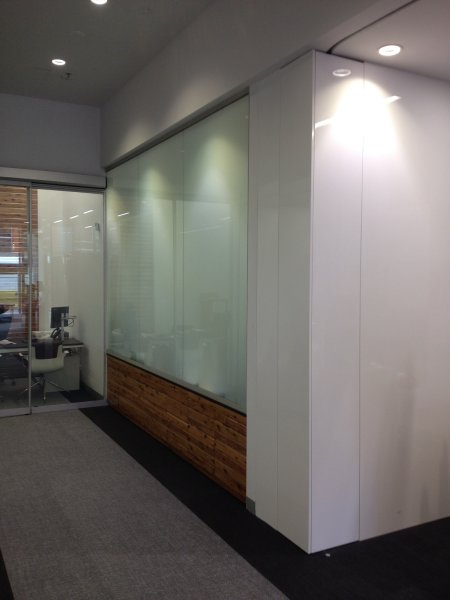 Bendigo Bank Project - Switchable Privacy Glass Office Completion 2