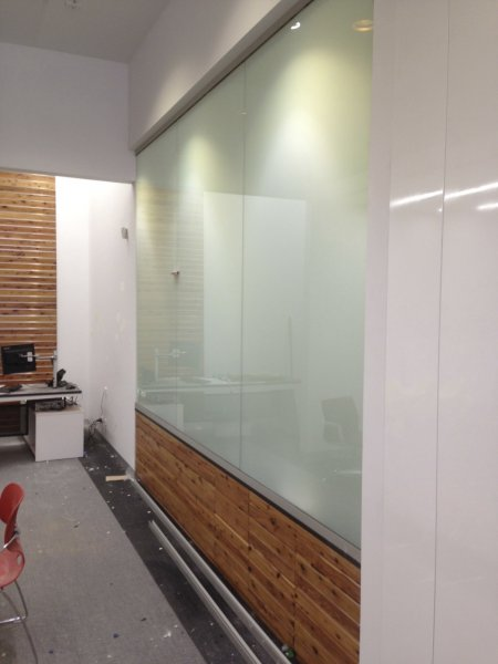 Bendigo Bank Project - Switchable Privacy Glass Office Completion 3