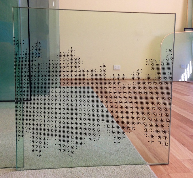 Laminated Fritted Glass
