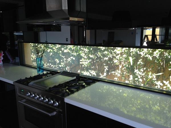 Kitchen Splashback Switchable Privacy Glass ON