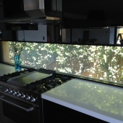 Kitchen Splashback Switchable Privacy Glass ON
