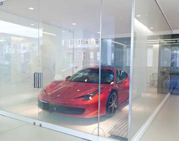 Switchable Privacy Glass used in Ferrari Showcase