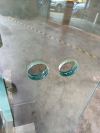 Glass Balustrade with cut out holes